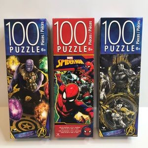 Puzzle Marvel 100 Piece Bundle Of 3